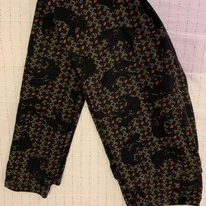 Lularoe Leggings Black Bears OS